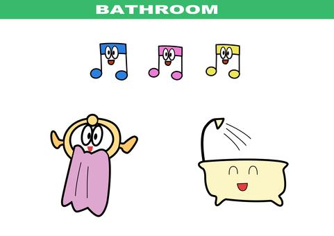漫畫風格 - 浴室套