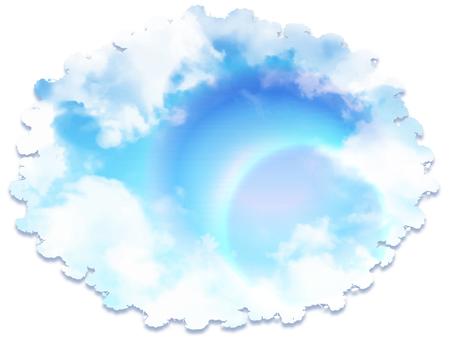 A blue sky plate