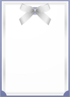ai Invitation card · letter · frame · blue 2