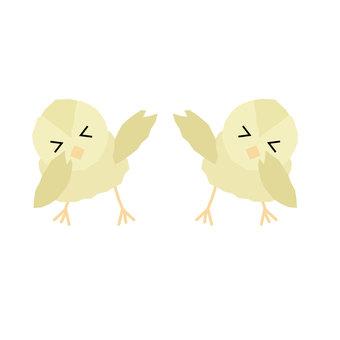 두 마리의 병아리