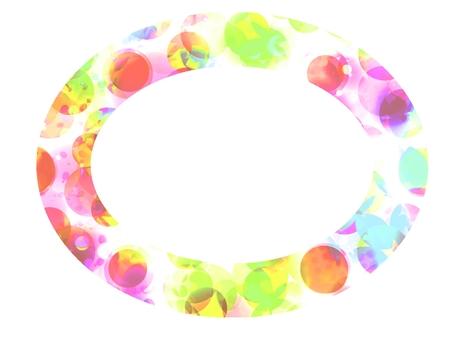 Frame frame color pattern round