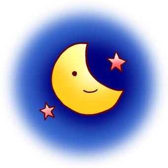 Moonstar night sky