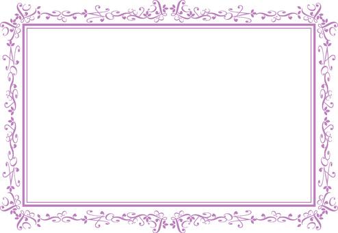 優雅的框架紫色