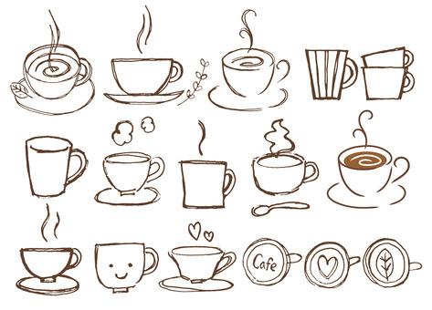 Çeşitli kahve fincanları