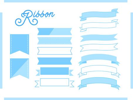 Ribbon design material blue