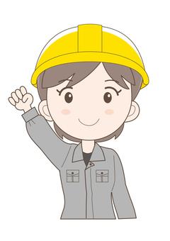 Female workshop worker