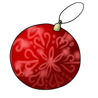 Christmas ornament ball red