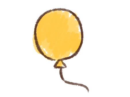 クレヨンシリーズ[風船/黄色]