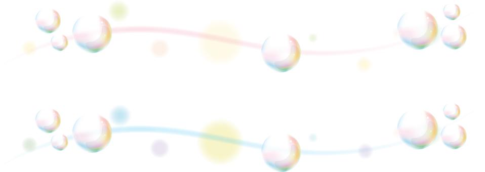 Borderline of soap bubble