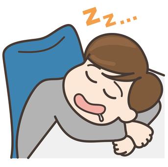 A nap _ a businessman