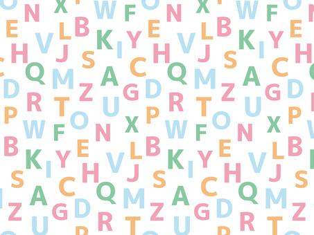 アルファベットのパターン3