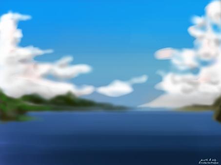 여름 호수