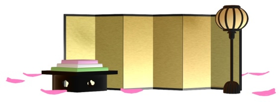 Hinamatsuri frame small (Bonburi & amp; rice cake)