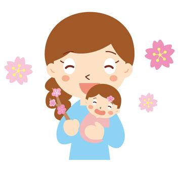 媽媽和寶寶第一次節日