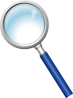 Magnifying glass (blue)