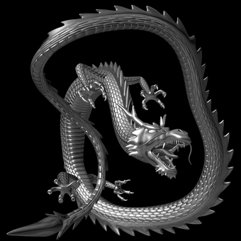 3D illustration dragon