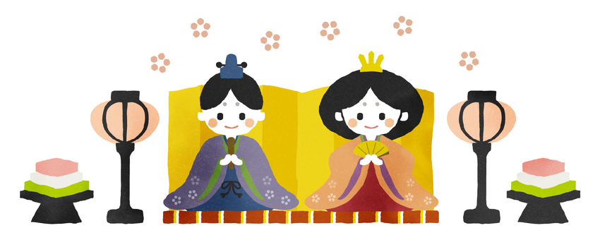 Handwriting Wind Doll Festival Illustration