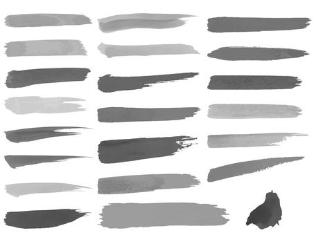 Watercolor brush eye frame set 1 (gray)