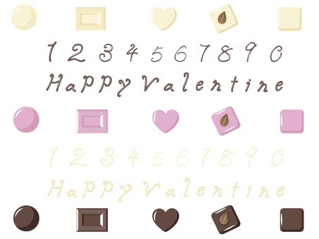 バレンタイン、チョコテート素材!