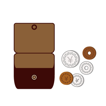Small change and coin purse