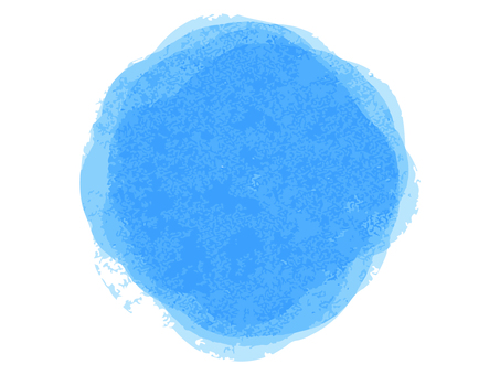 Watercolor style blue circle