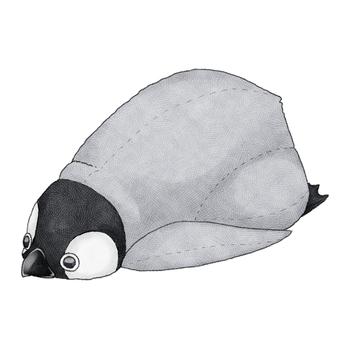 Baby penguin animal stuffed toy illustration