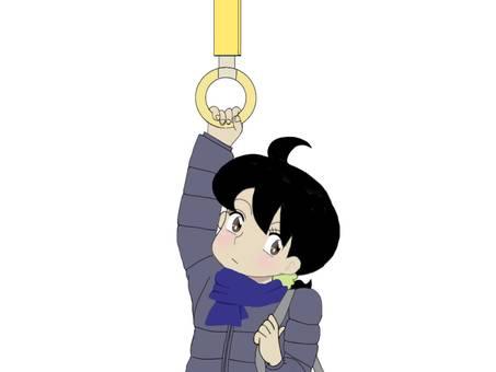 Woman grabbing hanging skin