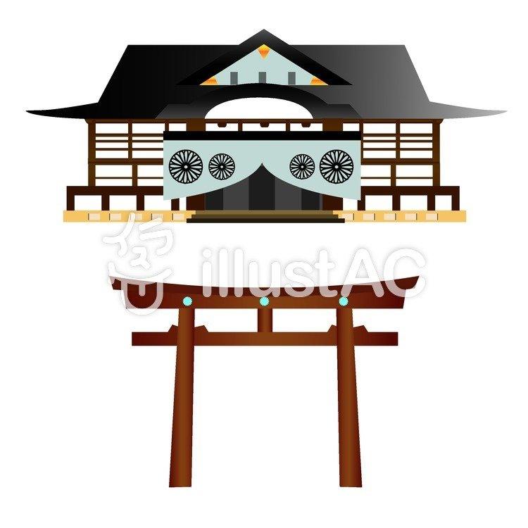 神社仏閣のイラスト
