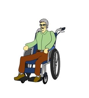 Men using wheelchairs
