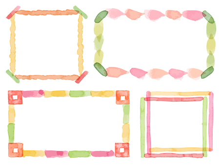 Watercolor frame set 5