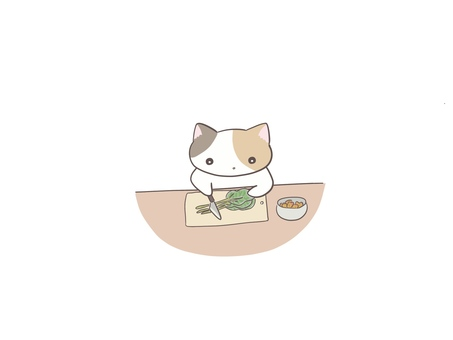 Calico cat to cook