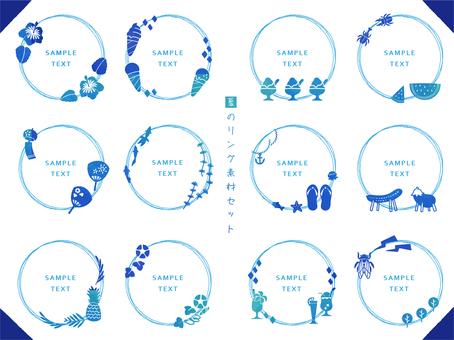 Summer frame set (circle)