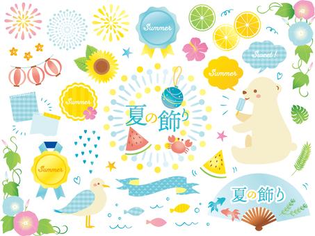 Soft summer decoration set