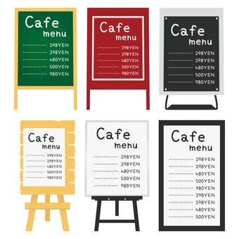 Cafe stand sign set