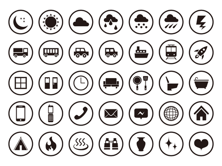 Standard icon set [2] silhouette