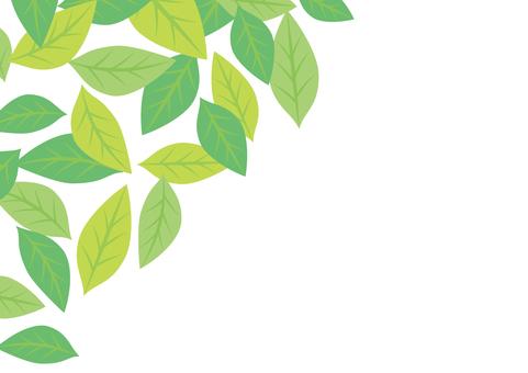 Green leaves frame 10
