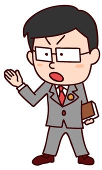説明する弁護士