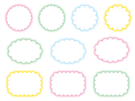 Fluffy cloud shaped cloud frame set