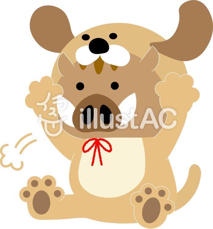 イノシシ1802犬から亥へイラスト No 1206455無料イラストなら