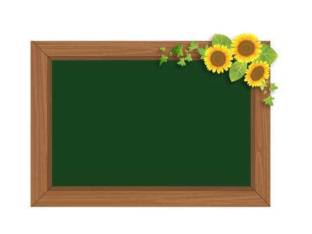 Sunflower and Blackboard 03