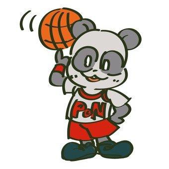 籃球和熊貓