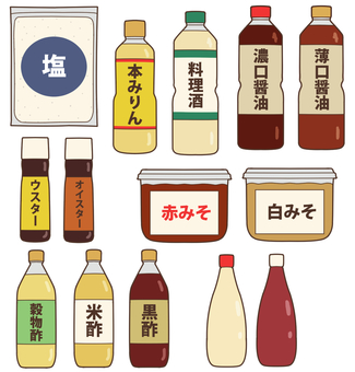 Seasoning (salt · soy sauce etc.)