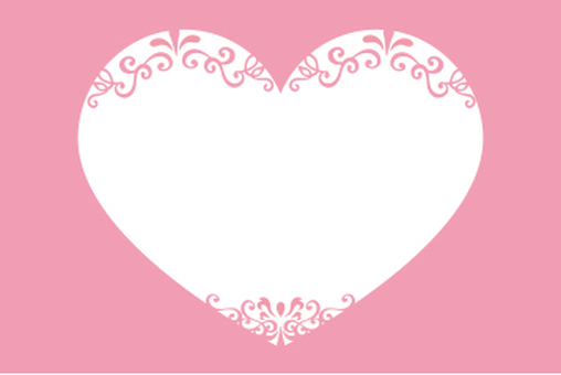 Heart decoration card pink