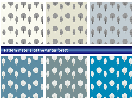 Winter forest pattern material set