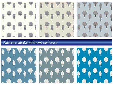 冬季森林模式材料集