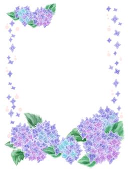 花フレーム 24(紫陽花)