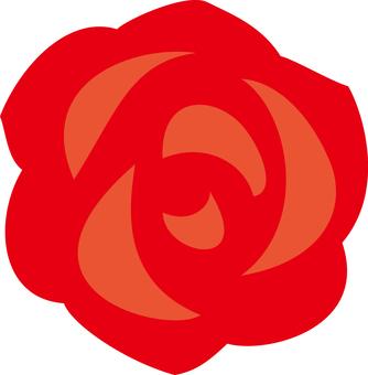 Simple rose red