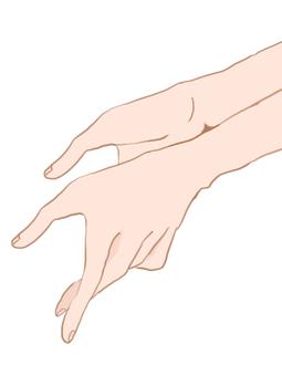 Handing hands
