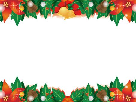 Christmas decorative frame
