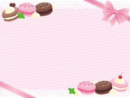 Macaron girly frame * Pink